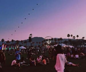 coachella, festival, and pink image