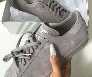 gris, adidas, and shoes image