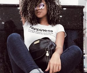 bag, black power, and hairstyle image