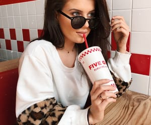 fries, five guys fanatic, and sunglasses image