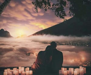 clouds, couple, and dreamy image