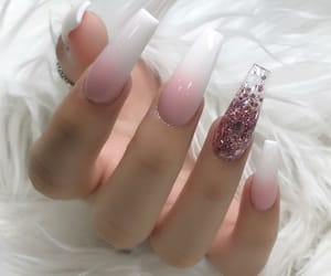 nail art, nail goals, and pink and white image