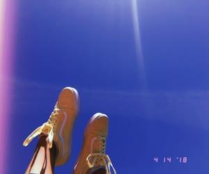 blue sky, shoes, and sky image