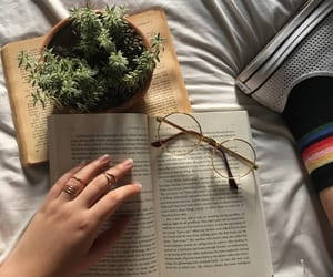 aesthetic, book, and carefree image
