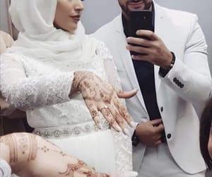 amour, couple, and hijab image