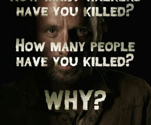the walking dead, rick grimes, and walkers image