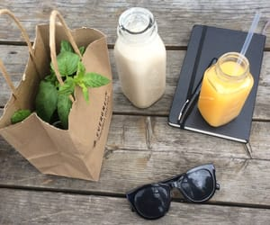 food, sunglasses, and drink image