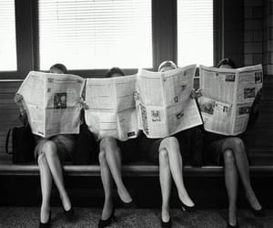 girls, black and white, and vintage image