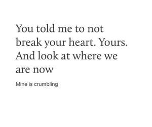 broken heart, him, and texts image