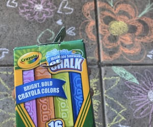 carefree, chalk, and flowers image