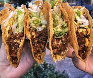 food, yummy, and tacos image