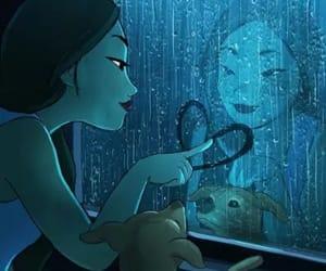 dog, art, and rain image