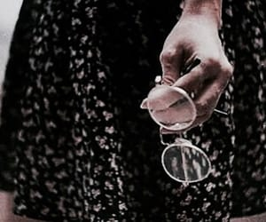 vintage, glasses, and dress image