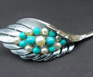 brooch, pearl brooch, and turquoise image