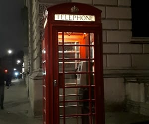 city, london, and phone booth image