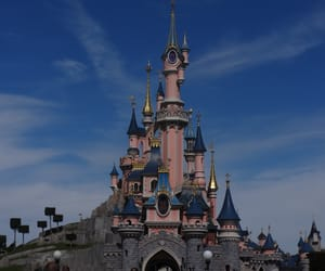 castle, disneyland, and mickey mouse image