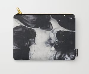 bag, black and white, and OMG image