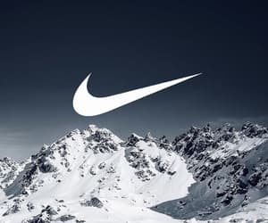 wallpaper, mountains, and nike image