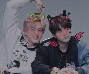 seokjin, yoongi, and jin image