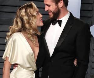 miley cyrus, couple, and liam hemsworth image