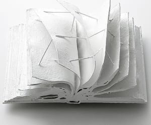 art, white, and book image