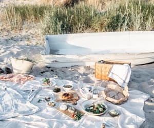 beach, picnic, and indie image