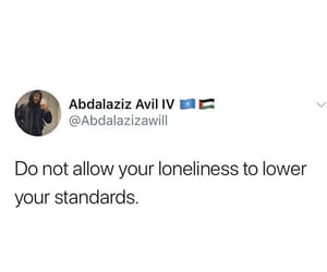 alone, self love, and standards image