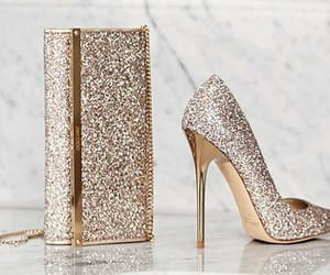 heels, glitter, and shoes image