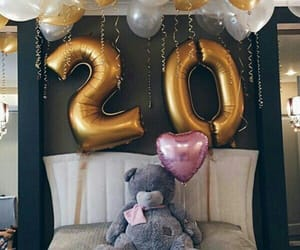 balloons, 20, and bear image