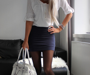 blond, style, and white image