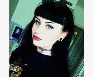 alternative, black hair, and dark girl image