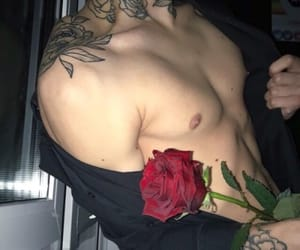 boys, Hot, and roses image