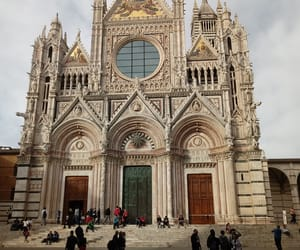architecture, cathedral, and sculptures image