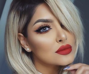 hair, make up, and eyes image