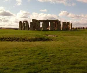 green, stonehenge, and monument image