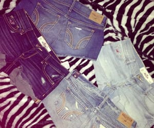 cutoffs, hollister, and low rise image