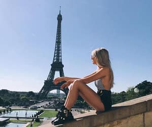 blogger, eiffel tower, and fashion image