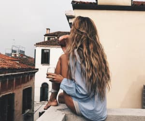 girl, hair, and travel image