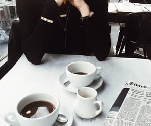 coffee, black, and cafe image