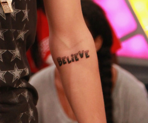 believe, justin bieber, and new tattoo image