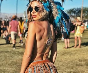 coachella, feather, and vibes image