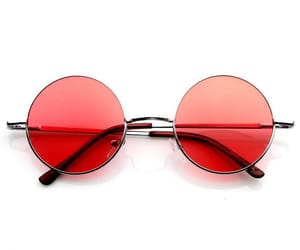 red and sunglasses image