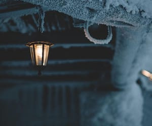 cabin, ice, and lantern image