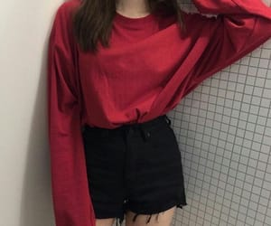 red, black, and style image