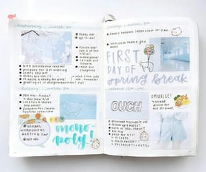 blue, college, and diary image