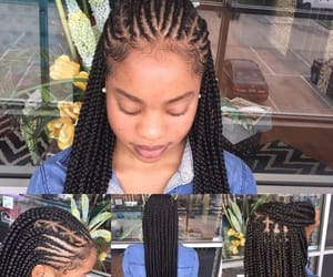 braids, cornrows, and beuaty image