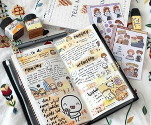 brown, college, and diary image