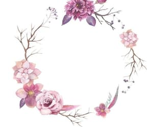 circle, pattern, and floral image