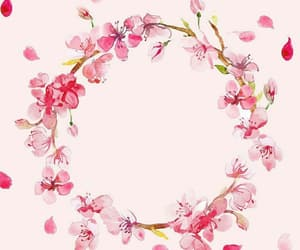 circle, floral, and pattern image