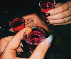 drink, nails, and party image